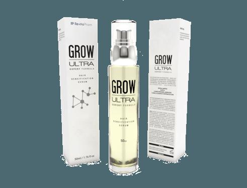 Grow Ultra hair serum la composition ultra-innovante du composant végétal pour la croissance des cheveux